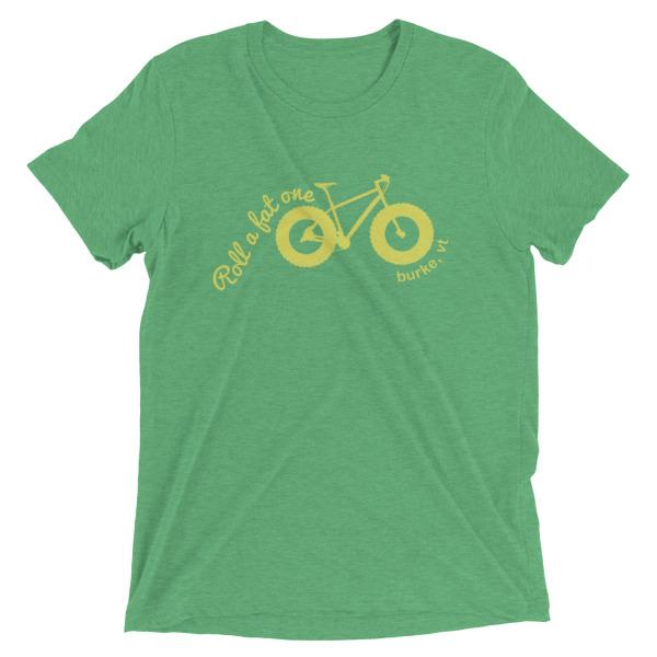 Roll a Fat One, Fat Bike T Shirts, Unisex Green Heather